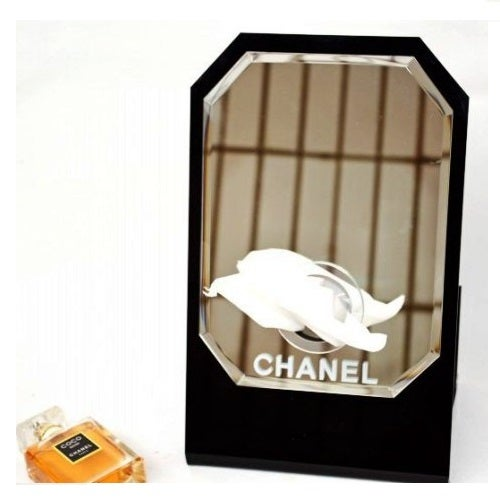 Image of Chanel Vip Gift Large Hexagonal Make Up Vanity Mirror/Tissue Holder VIP Gift NEW