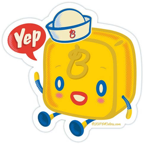 Image of Butterboy Sticker