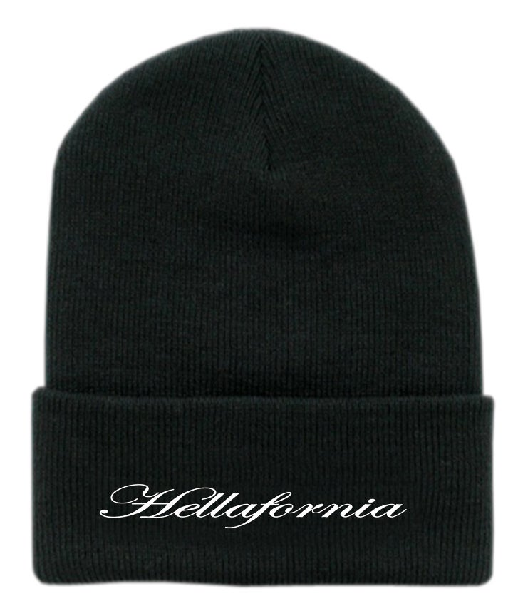 Image of knit beanie  embroidered OG SCRIPT