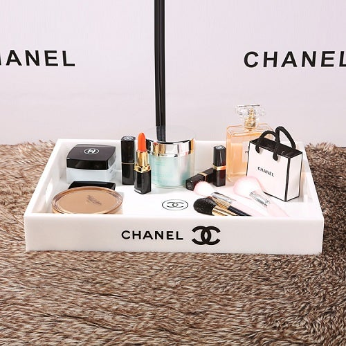 Image of SOLD OUT Chanel VIP Gift X Large White Make Up Cosmetic Jewellery Perfume Tray -New In Box