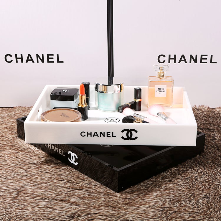 Image of Chanel VIP Gift X Large White Make Up Cosmetic Jewellery Perfume Tray -New In Box