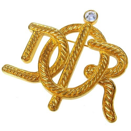 Image of SOLD -Christian Dior Authentic Signed Vintage Oversized Brooch