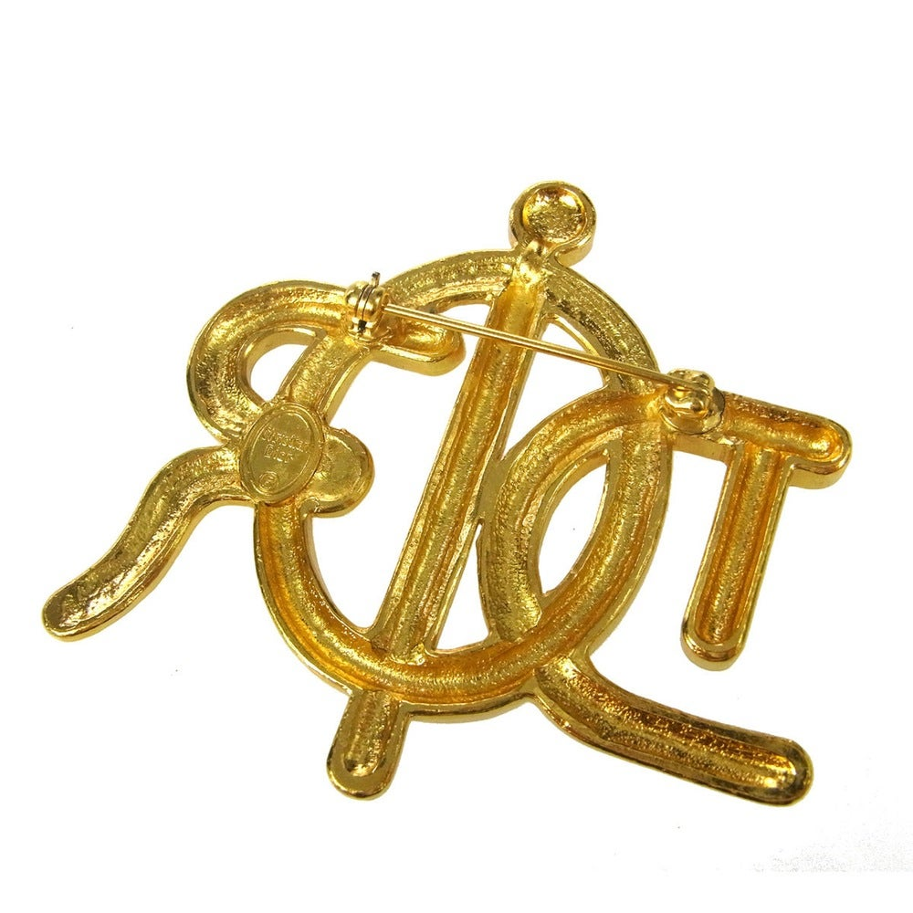 Image of AVAILABLE SOON -Christian Dior Authentic Signed Vintage Oversized Brooch