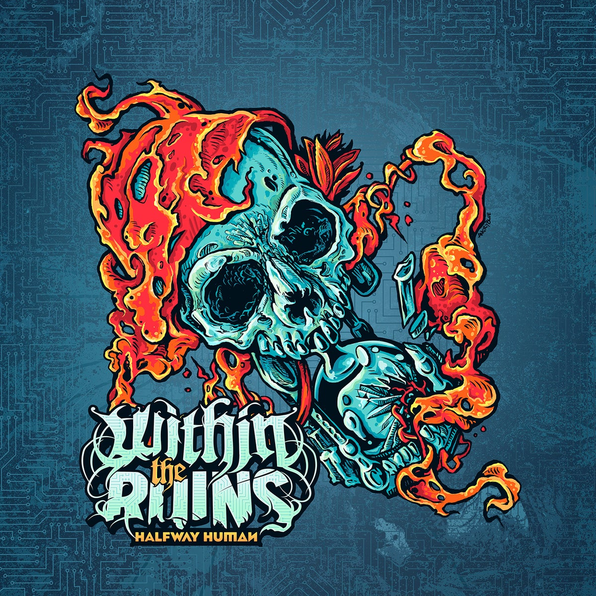 """Image of Within The Ruins """"Halfway Human"""" CD"""