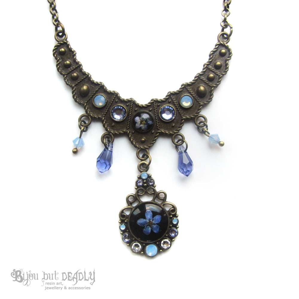 Image of Forget-me-not Crystal Drop Necklace
