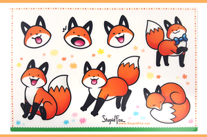 Image of StupidFox Sticker Sheet