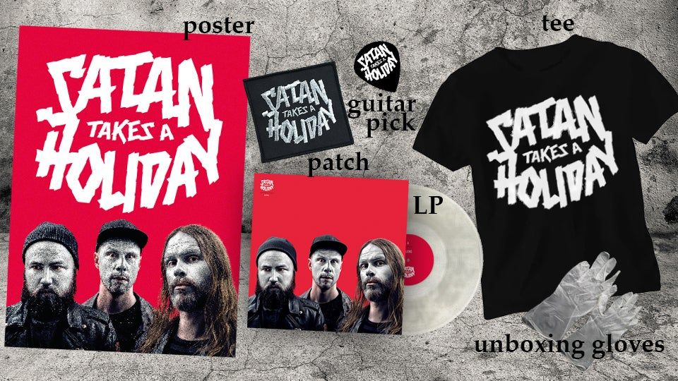 Image of The Super Awesome Satan Pack: Satan Takes A Holiday - Aliens (LP-package with goodies)