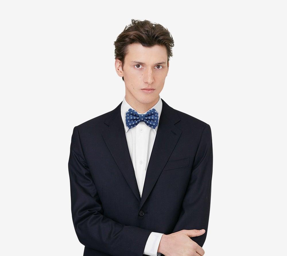 Image of Stars Denim Bow tie