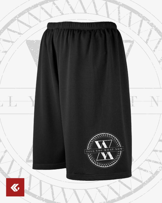 "Image of MESH-SHORTS ""Failsafe : Entropy Logo"" black"