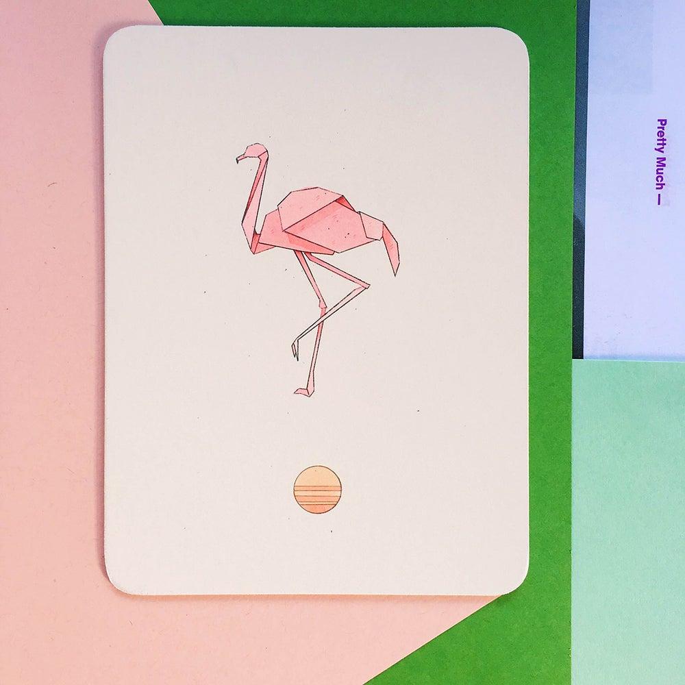 Image of Origami Flamingo