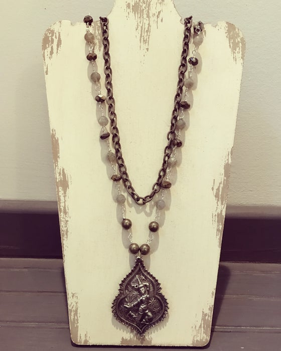 Image of Antique Tibetan double necklace