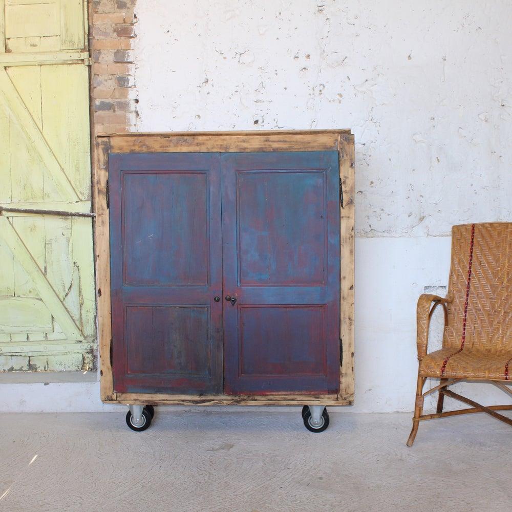 Petit meuble de rangement mobile fibresendeco vannerie artisanale mobilier vintage - Petite armoire de rangement ...