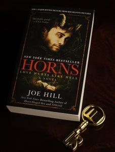 Image of Signed Set: Horns (mass-market paperback) & Biblio Key! - SOLD OUT