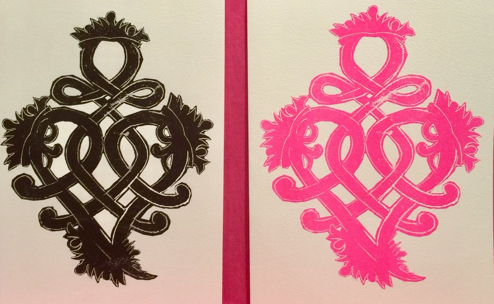 Image of Luckenbooth Heart Card 2 colors