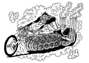 Image of Drag Bike Insect A4 Print
