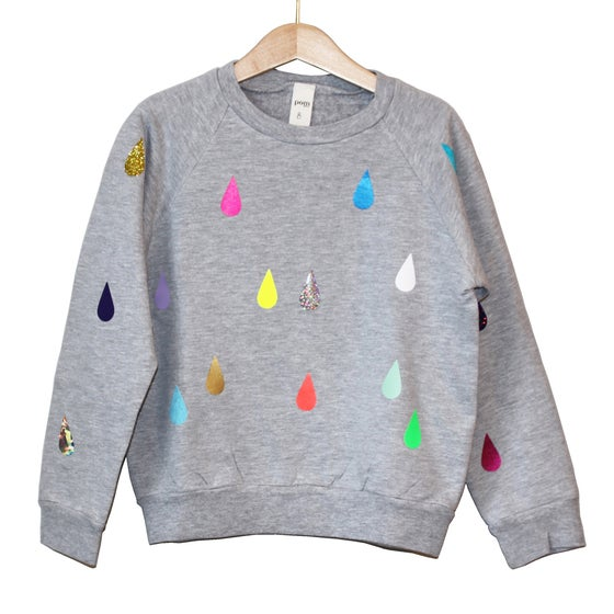 Image of Sweater drops grey