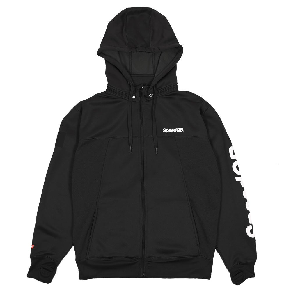 Image of SpeedQB Tech Zip Hoodie (Black)