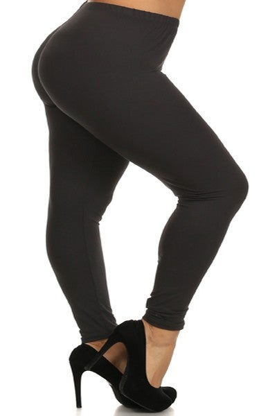 Image of Work Me out- Black Solid - plus size