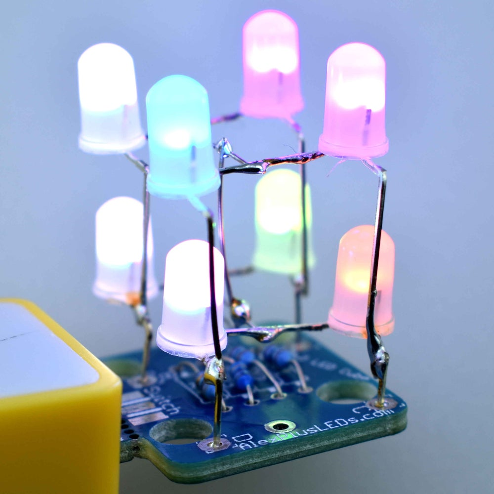 Image of DIY Color Changing LED Cube