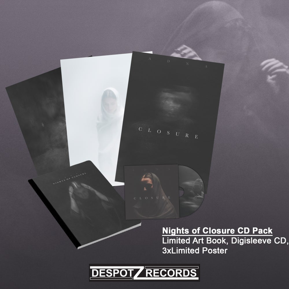"Image of Adna - Nights of Closure CD Pack (Limited Art Book, CD, 3xPoster,  Limited 7"" vinyl single)"