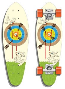 Image of Archer's Delight Mini-Cruiser Skate Deck -NEW!-