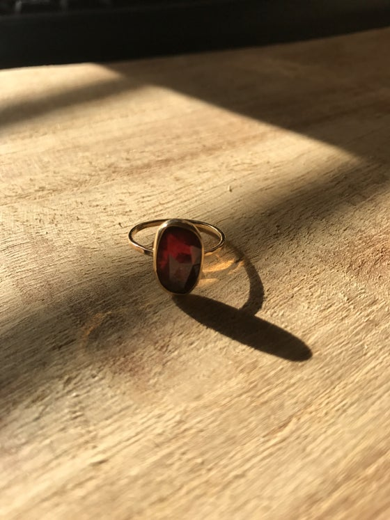 Image of Rose cut Pink tourmaline ring