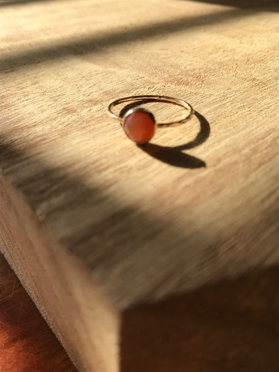 Image of Rose cut orange carnelian ring