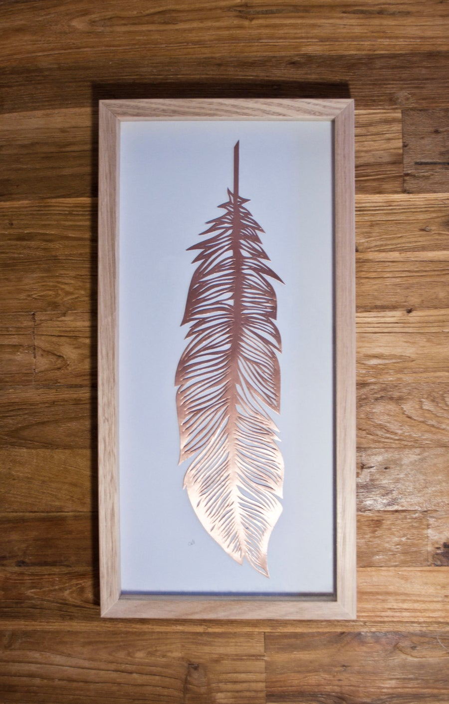 Image of Papercut Feather - Copper
