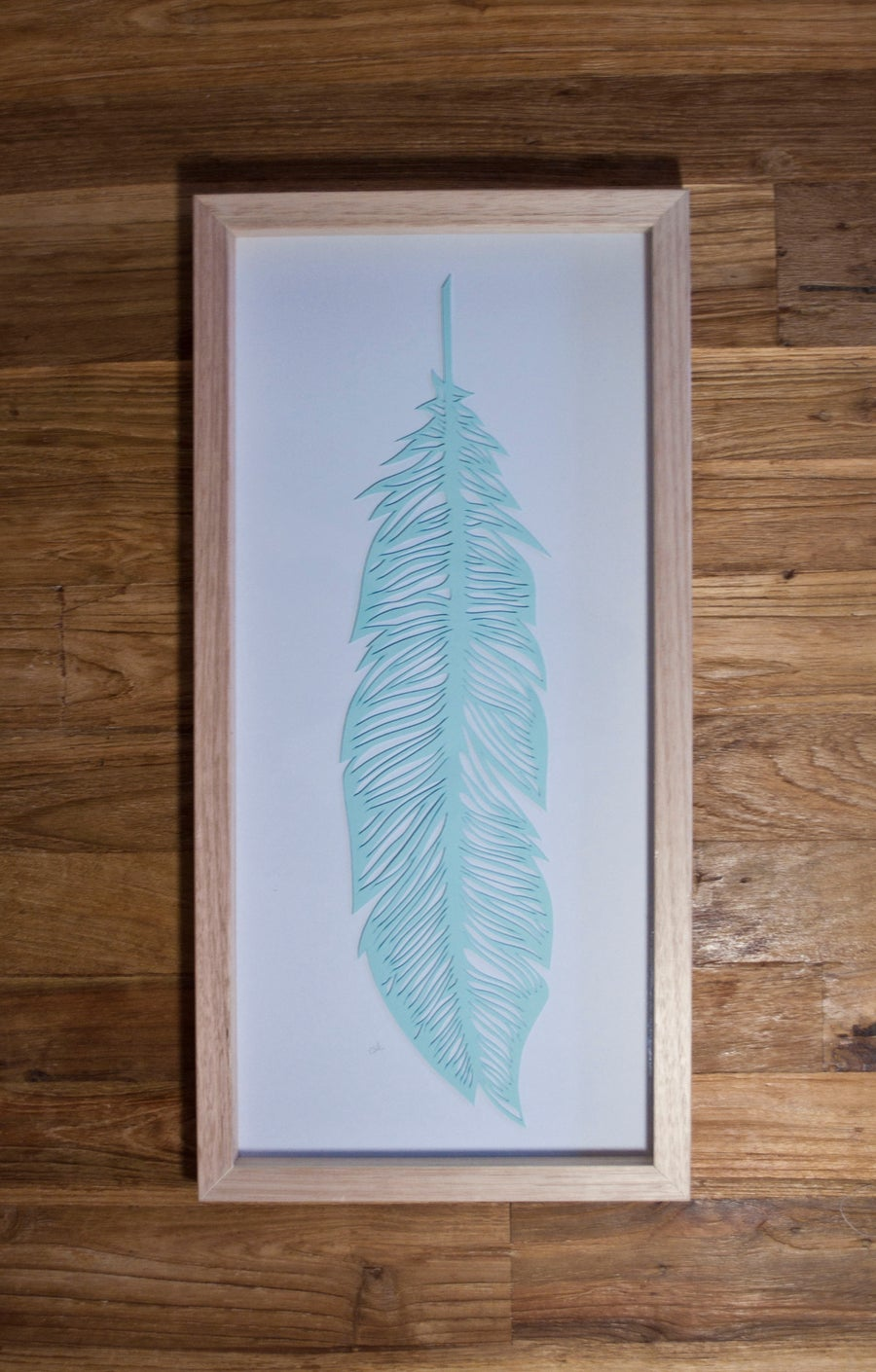Image of Papercut Feather - Mint