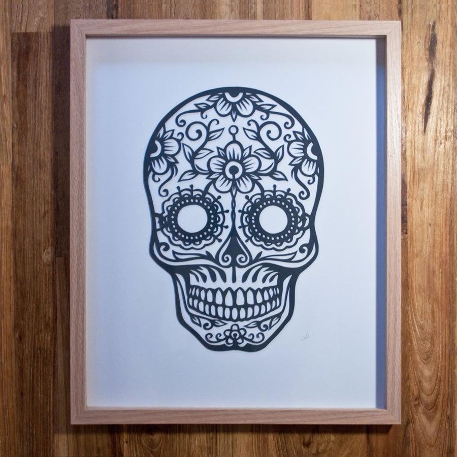 Image of Sugar Skulls - Charcoal