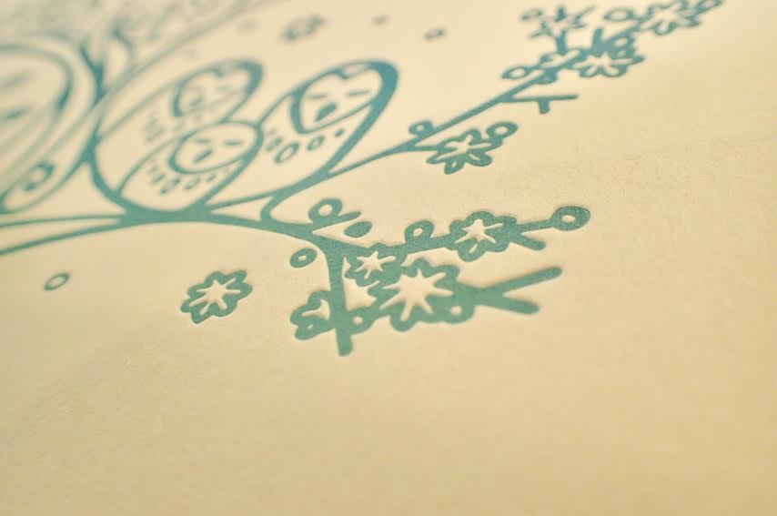Image of 'Owl Hollow' - Letterpress Print