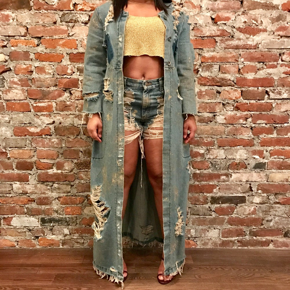 Image of Dirty Denim Duster