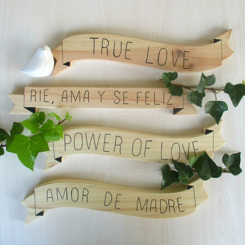 Image of Banners - Words and Wood