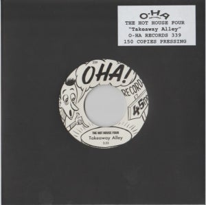 """Image of 7"""" Hot House Four : Takeaway Alley. Ultra Ltd (150 copies) single sided."""