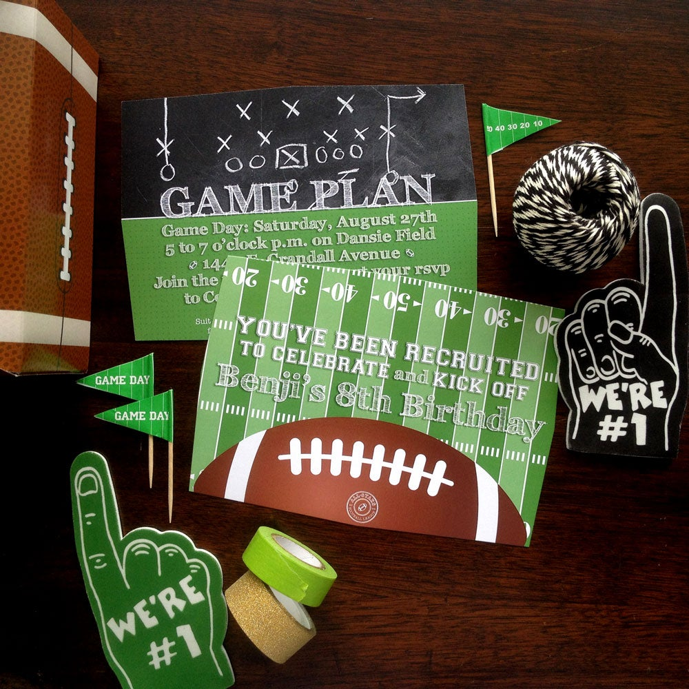 Image of Football Party Invitations