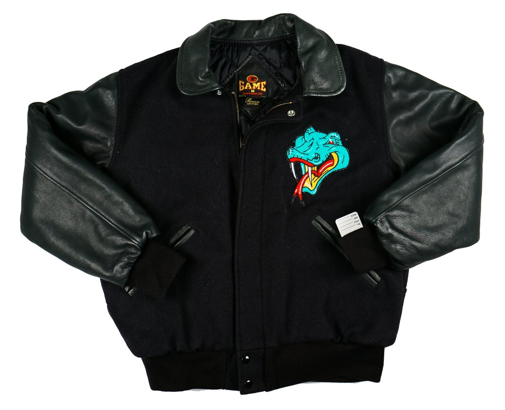 Image of Detroit Vipers ALL Black Varsity Jacket by Game