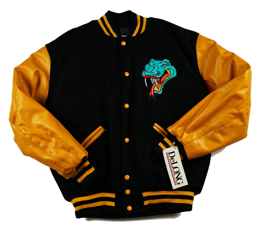 Image of Detroit Vipers Black and Gold Varsity Jacket