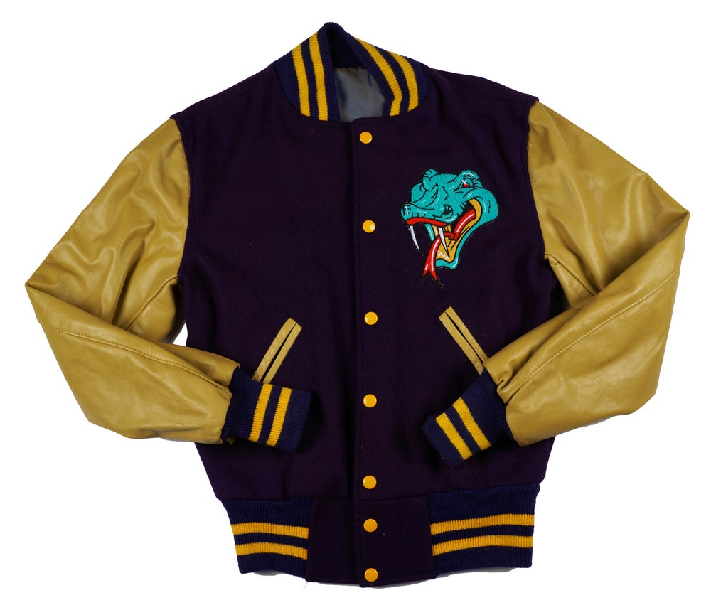 Image of Detroit Vipers Vintage Purple and Old Gold Varsity Jacket