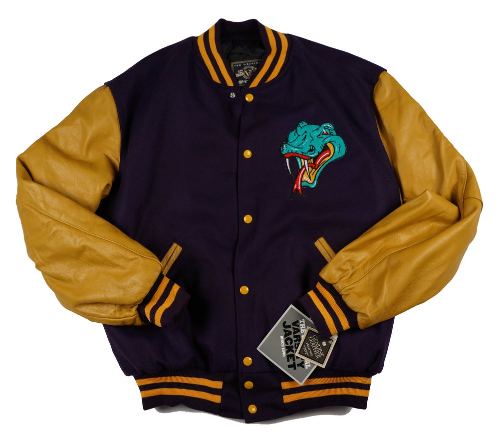 Image of Detroit Vipers Vintage Purple and Gold Varsity Jacket