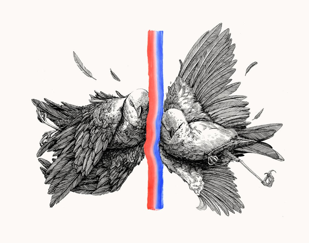"Image of ""Divided"" Original art"