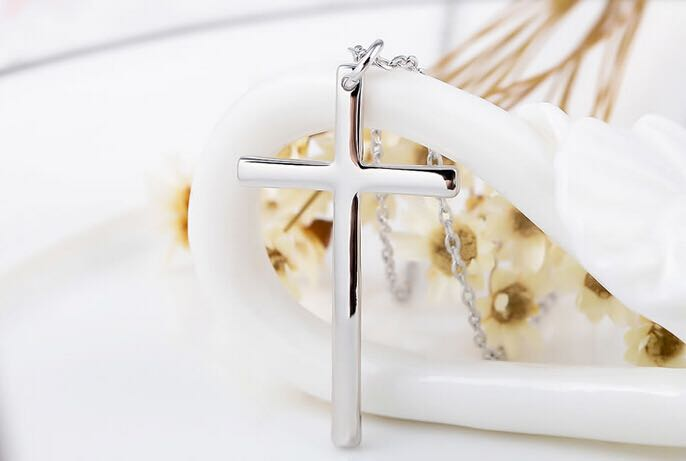 Image of Cross my heart (white gold plated) from Don Benjamin