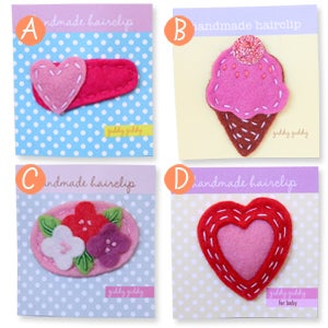 Image of valentine's day hair clips #3