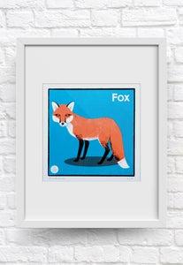 Image of Framed Fox print