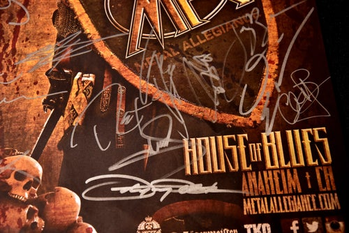 Image of Signed 1/21/2015 Concert Poster ***Lots of Signatures***
