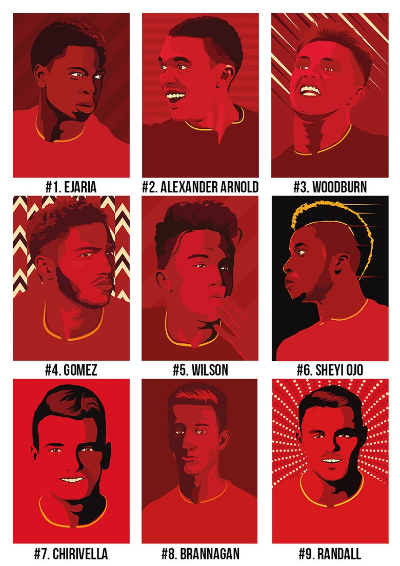 Image of LFC Youth incl. Woodburn, Ejaria, TAA