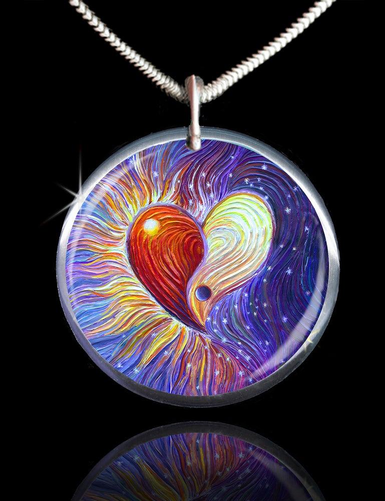 Image of Yin Yang Heart Energy Pendant