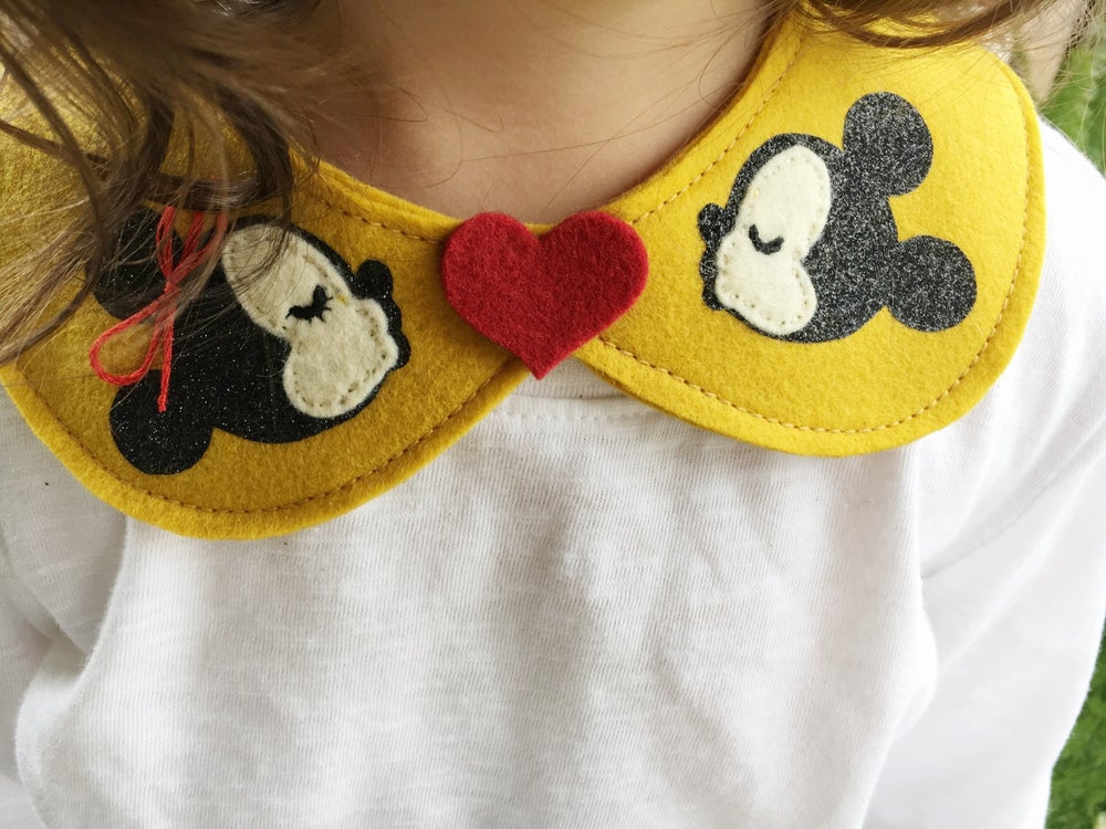 Image of Mickey & Minnie Collar - Mustard