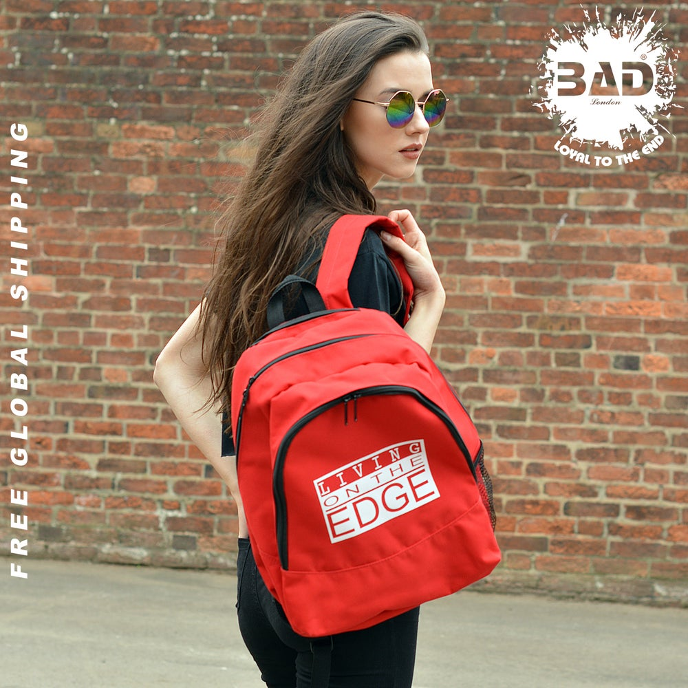 Image of Premium Backpack by LIVING ON THE EDGE DESIGNER Urban street wear and fitness fashion