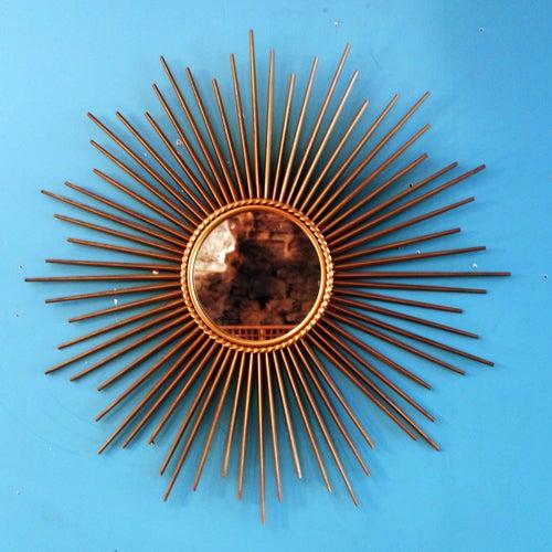 Image of Grand miroir soleil CHATY annés 50/60
