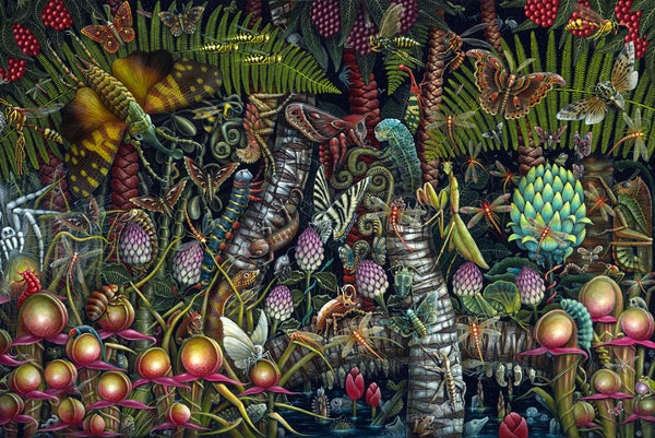 "Image of MICROCOSMIC GARDEN ~ 35 X 23"" Signed & Numbered Limited Edition of 50"
